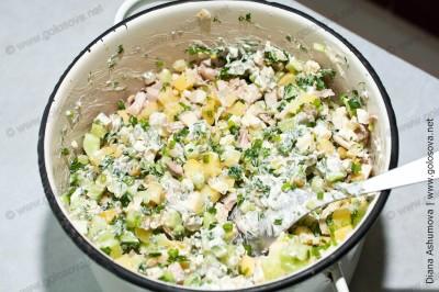 Столичный салат по рецепту Людмилы