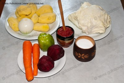 ингредиенты для приготовления борща