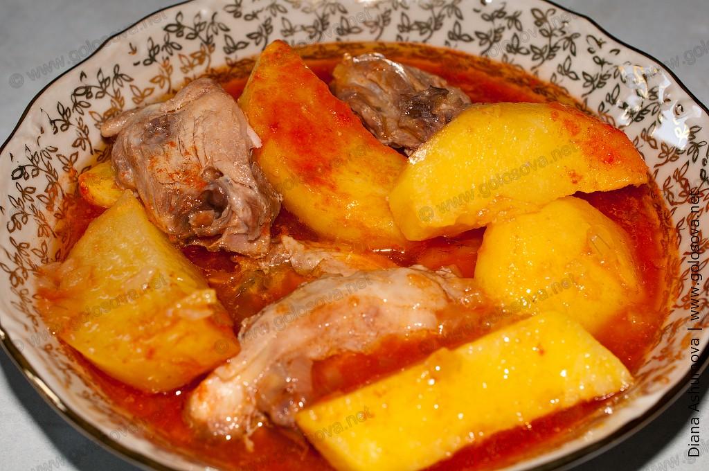 мясо тушеное с картошкой в кастрюле рецепт с фото пошагово