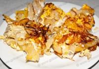 жареная картошка с яйцами