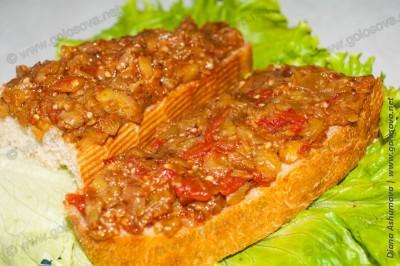 бутерброд с икрой заморской