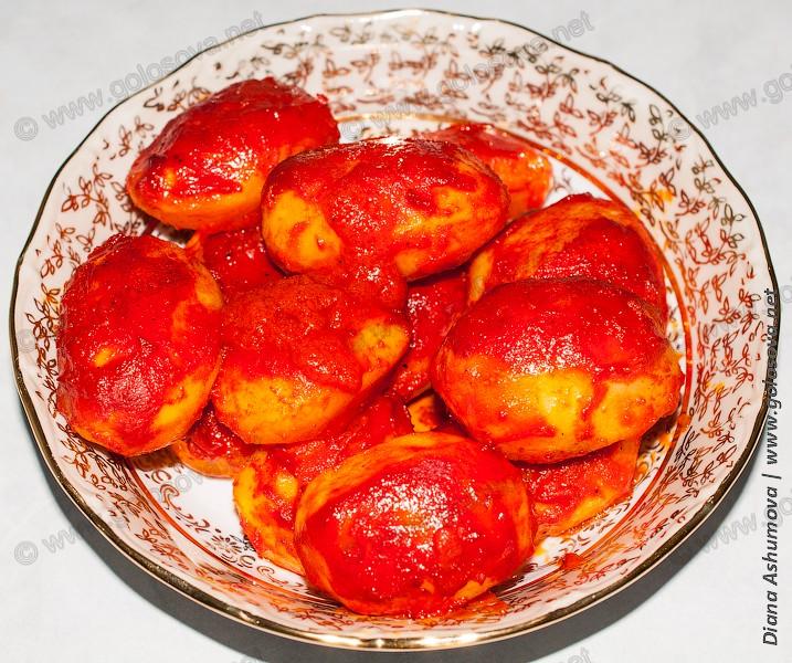 картошка в духовке с томатной пастой