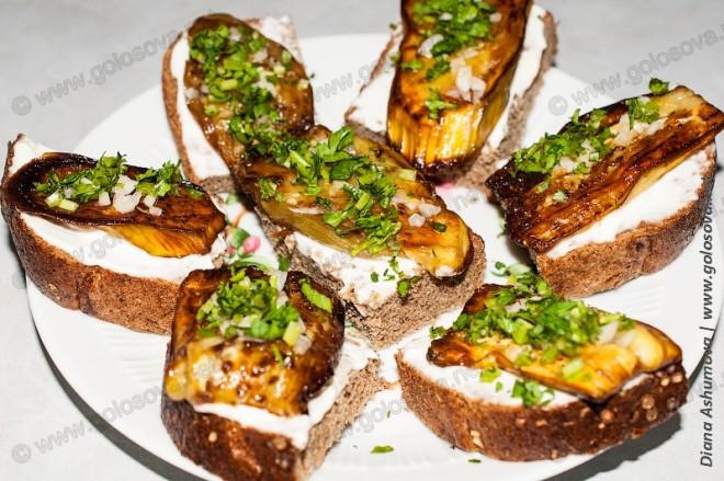 Бутерброды из баклажан рецепт