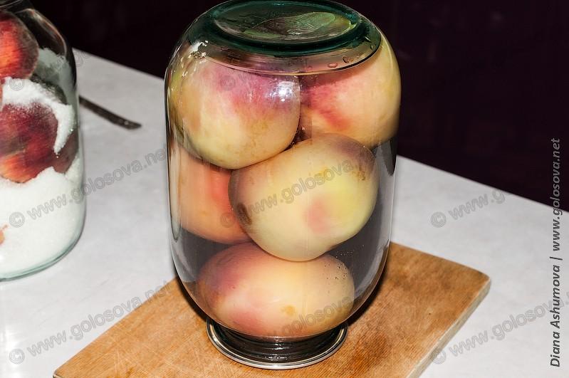 персиковый компот на зиму в 3 х литровой банке