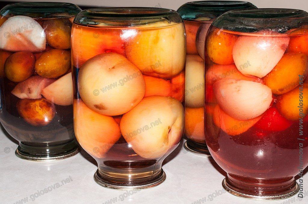 персиковый компот на зиму в банках