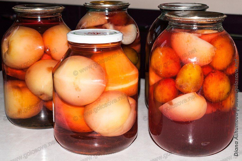 на зиму компот из персиков
