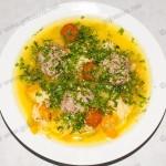 Суп с фрикадельками и болгарским перцем. Рецепт с фото.