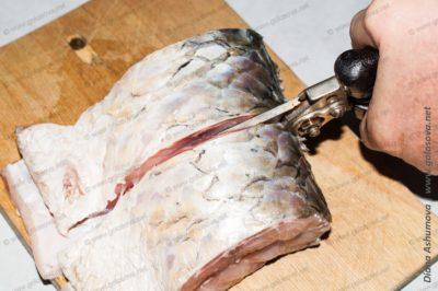 как разделать рыбу садовыми ножницами
