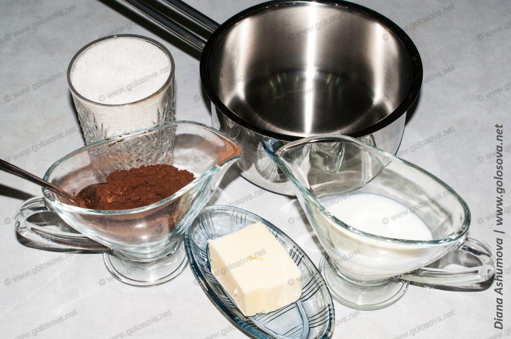 продукты для шоколадной глазури из какао-порошка