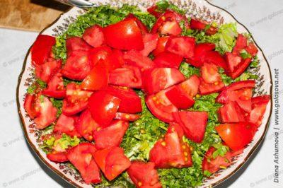 салат помидор яйцо
