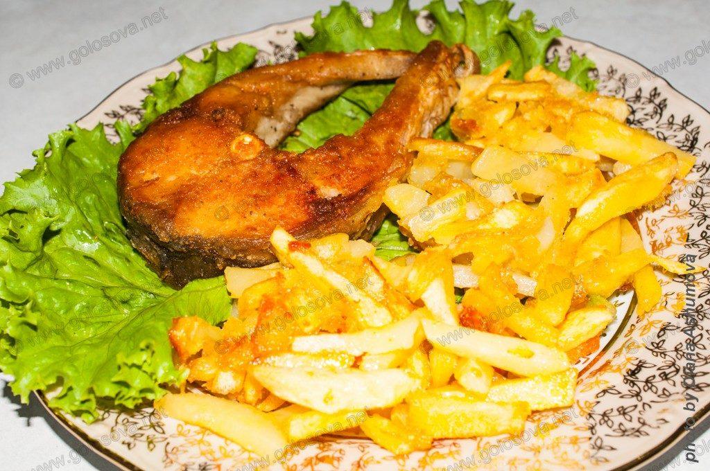 жареная картошка на гарнир к жареной рыбе