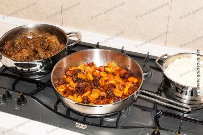 говядина, сухофрукты, рис