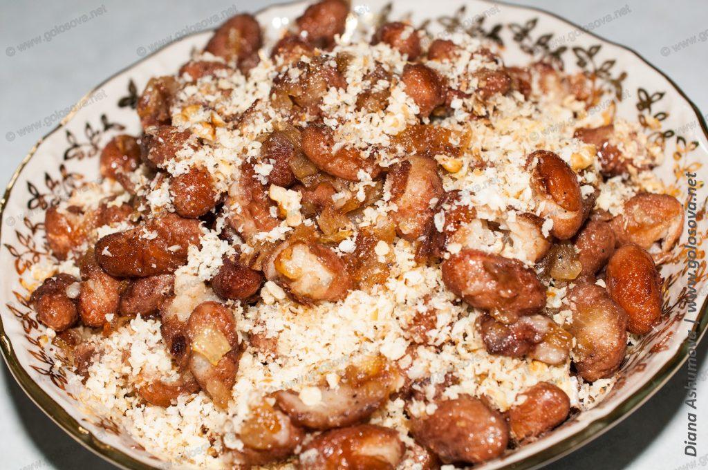 фото салата грузинского с грецкими орехами и фасолью