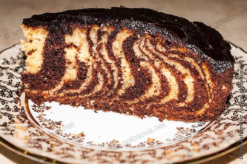 фото торта Зебра в домашних условиях
