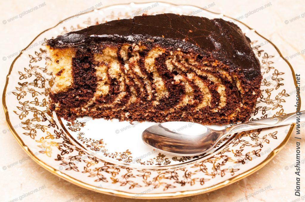 выпечка торт зебра