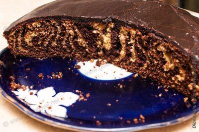 пошаговый рецепт торта Зебра