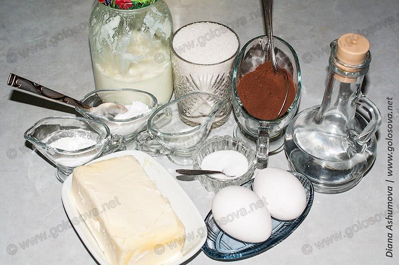 фото продуктов для выпечки торта Зебра