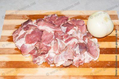 свинина с луком