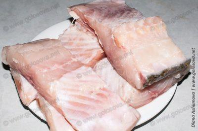 крупные куски рыбы