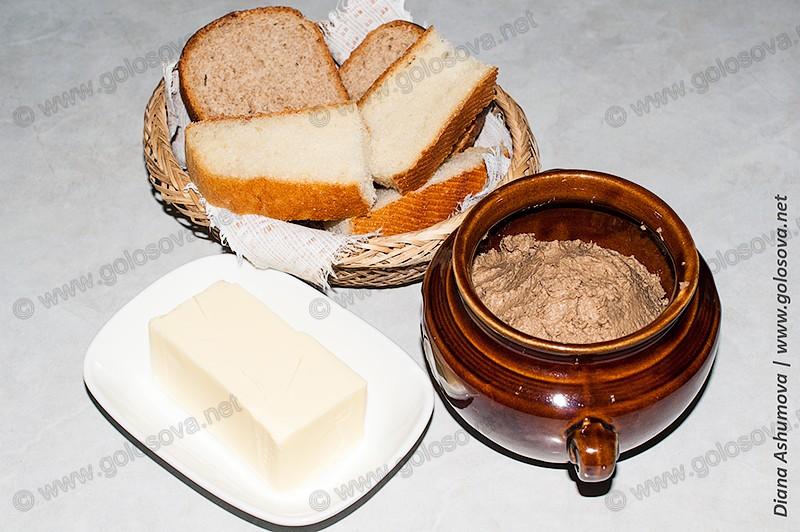 паштет из свиной печени с маслом