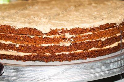 промазанные коржи для торта Мужской Идеал