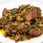 Мясо тушеное с зеленью. Рецепт