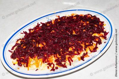слой свеклы для салата селедка под шубой