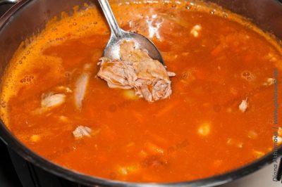 суп фасолевый с мясом