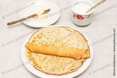 приготовить блинчики на завтрак