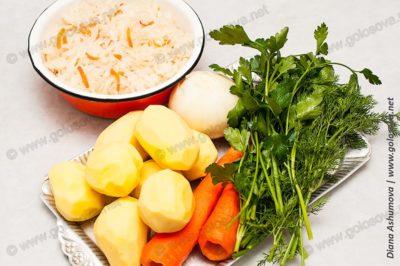 овощи на кислые щи