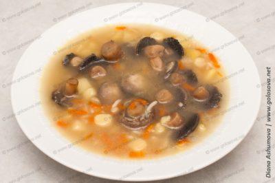 суп с шампиньонами и картошкой