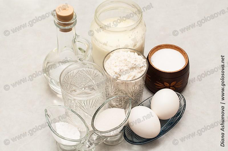 ингредиенты для приготовления блинчиков