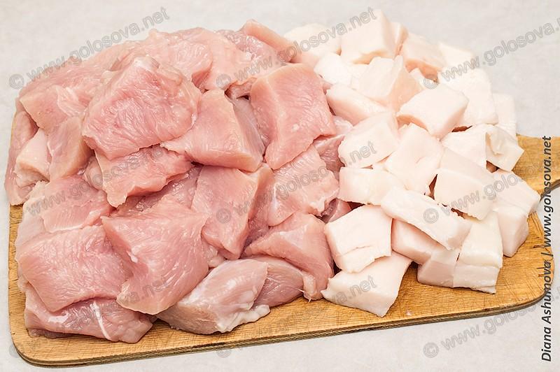 индейка и свиное сало