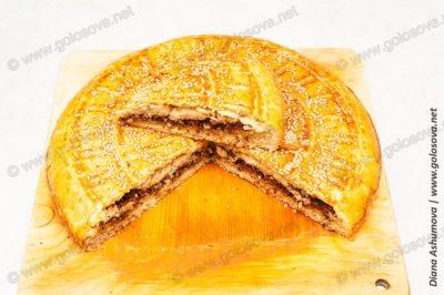 жареный пирог с жареным фаршем