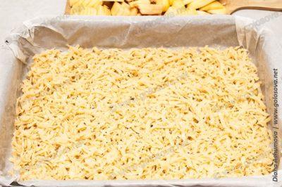 пирог из песочного теста с яблоками, корицей и миндалем