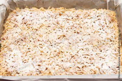 песочный пирог: яблоки и миндаль