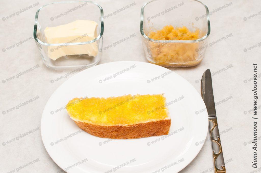 бутерброд с икрой мойвы
