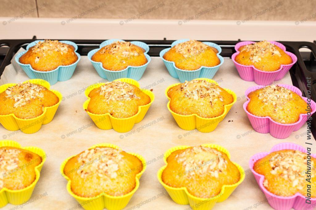 кексики с орехами в духовке