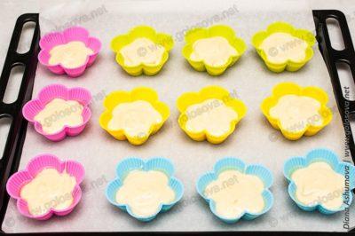 простые кексики в силиконовых формочках