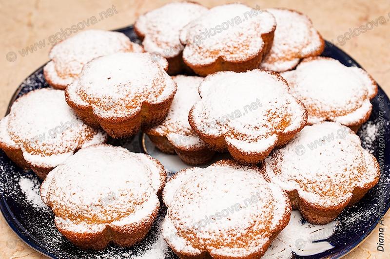 простые кексы в духовке в силиконовых формочках