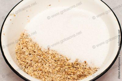 начинка из грецких орехов с сахаром