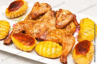 как запечь курицу целиком с корочкой