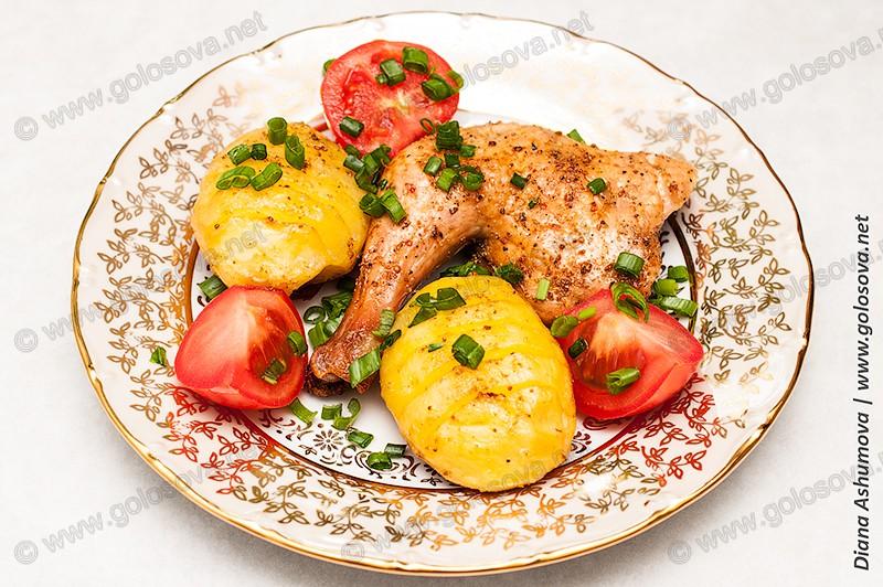запечь курицу с корочкой в духовке
