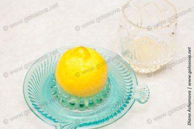 свежий сок лимона