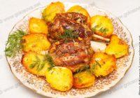 свиная рулька в духовке с картошкой