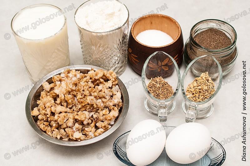 выжарки и другие ингредиенты для теста