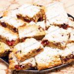 Песочный пирог с вишней. Рецепт с фото.