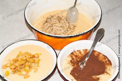тесто на 3 коржа с разными начинками
