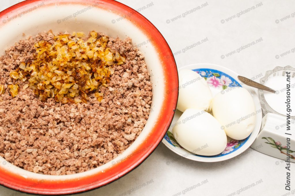 продукты для начинки для пирожков с яйцом