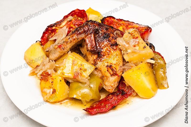 жаркое из курицы и овощей в духовке